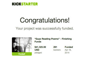 Kickstarter Congrats